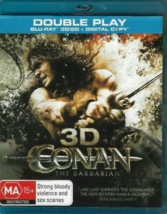 Conan The Barbarian (Double Play 3D / 2D Region B Bluray) *Free Postage*