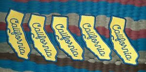 5pcs California Sew on Embroider Patch T Shirt Jacket Bag Craft Cap Denim Jeans