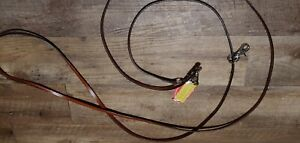 """1/2"""" Leather Draw Reins For Training a Horse For Western or English Saddle"""