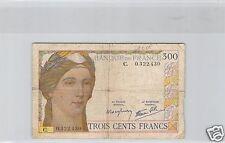 FRANCE 300 FRANCS ND (1938) ALPHABET C N° 0322430 PICK 87