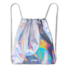 Kids Childrens Draw String Swimming Holographic Bag School PE Toy Sports Gym