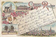 Gruss aus Rheydt AK 1898 Bürgerschule Mehrbild Litho Nordrhein-Westfalen 1701103