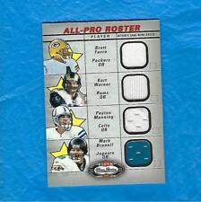 BRETT FAVRE 2002 FLEER BOX SCORE ALL PRO ROSTER QUAD GAME USED PEYTON MANNING +