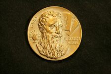 JUDAISM MOSES RELIGIONS OF WORLD SERIES MEDALLIC PRESIDENTIAL ART BRONZE W/STAND