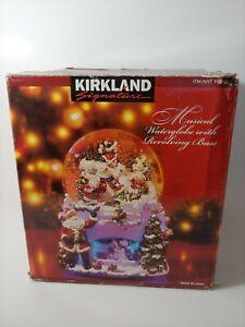 Kirkland Signature Musical Revolving Water Globe Snow Bear Theme Item #109619