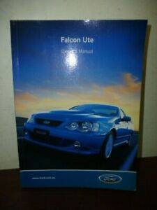 GENUINE FORD FALCON 2002 BA XR6 UTE OWNERS MANUAL
