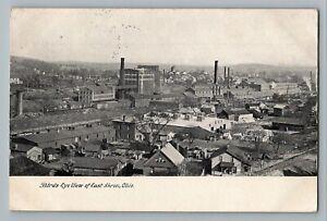 East Akron Ohio OH Birds Eye Town View Homes Factories Postcard 1908
