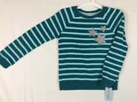 cat and jack girls fiji teal pull over size M 7/8