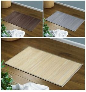 Non-Slip Bamboo Folding Bath Mat Natural [50x80cm] Slatted Bathroom Shower Mat