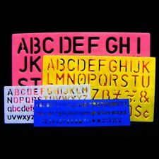 4x SMALL - LARGE A-Z 0-9 STENCILS Full Set Alphabet Letters Numbers 7mm - 30mm