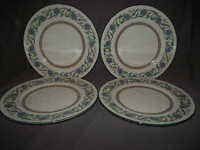 "Set of 4 Wedgwood Shah W734 Cream 9"" Lunch Luncheon Plates"