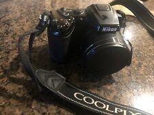 Nikon COOLPIX L310 14.1MP Digital Camera - Black tested works great