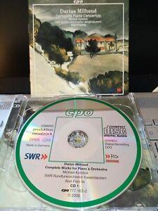 2CD*KORSTICK*FRANCIS*CPO GERMANY 2006*MILHAUD THE PIANO CONCERTOS*LIKE NEW
