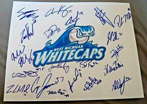 2019 West Michigan Whitecaps Team Signed Photo Riley Greene Parker Meadows Auto