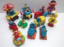 Vintage Sesame Street Lot 11 Pieces Vehicles Figures IIlco Jim Hensons Muppets