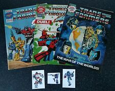 transformers comic UK G1 FREE GIFT 68 69 70 special teams cards