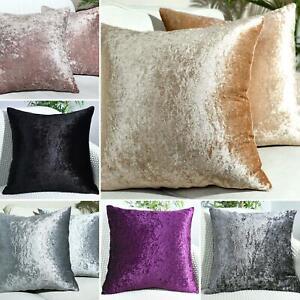 "Luxury Crushed Velvet Cushion Covers Plain 17""X17"",20""X20"",22""X22"",24""X24"""