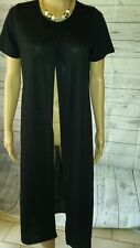 ✔✔✔SILENT THEORY cardigan size 12 black slits on sides overlay long AS NEW women