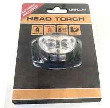 Uni-Com 2 LED Adjustable Til table Head Torch Lamp With Strap, Black