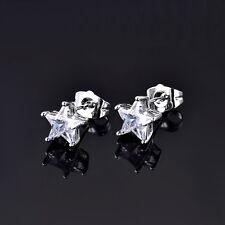 Lovely Star Shape Swarovski Crystal White Gold Filled Friendship Stud Earring