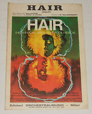 "AMERICAN TRIBAL LOVE-ROCK spartito musicale "" HAIR""  1967 !!!!!!!!"