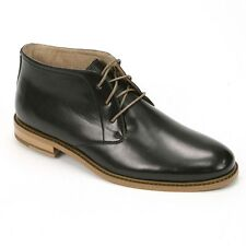 New Mens Deer Stags Black Prime Seattle Leather Ankle Boots Size 9.5 Retail $80