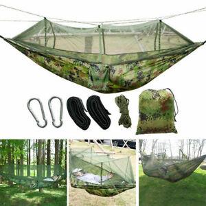 Green Military Style Jungle Hammock / Mosquito Netting Screen & Rainfly