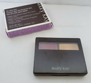 Mary Kay Lip Color Duo BRONZE/AMBER NIB 2 Signature Lipsticks & Brush