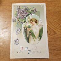 International Art Publishing Postcard 1909 A Peaceful Easter Angel #1147