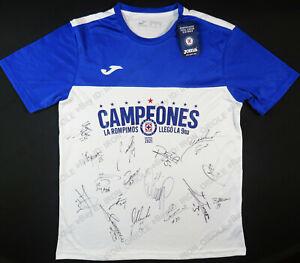 2021 CRUZ AZUL team signed Joma Campeone Liga MX limited edition jersey w/ PROOF