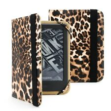 LEOPARD ANIMAL PRINT CASE COVER PU LEATHER FOR AMAZON KINDLE TOUCH
