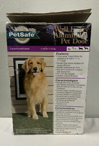 PetSafe Large Dog Pet Door Full Assembly Aluminum Kit For Wall Entry PPA11-10917