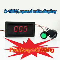 DC 6-30V 12V 24V 8A PWM Motor Speed Controller With Digital Display & Switch