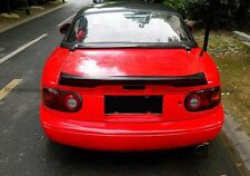 For Mazda MX5 NA MK1 Miata TR Style FRP Ducktail Rear Spoiler Trunk Spoiler Wing