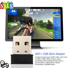 Anself ANT+ USB Stick Adapter For Garmin Forerunner Compatible CycleOps