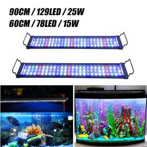 60 /90cm Aquarium Light Lighting Full Spectrum Aqua Plant Fish Tank Bar LED Lamp
