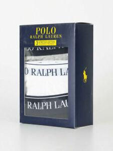 Men Underwear/Boxer Polo Ralph Lauren 3In1 Black Grey White Stretch Boxers-Small
