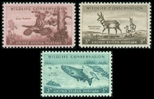 1956 Wildlife Conservation MNH Stamps from USA