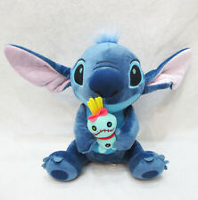 "Lilo&stitch holding scrump stuffed plush doll statue 10"" anime toy new"