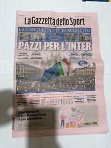 GAZZETTA DELLO SPORT 3 Aprile 2021.FC INTER CAMPIONE D'ITALIA 2021,SCUDETTO