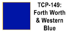 Fort Worth & Western Blue (1 oz) <<<<We combine shipping>>>> Tru-Color Paint 149