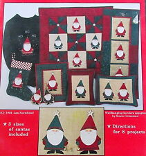 Country Appliques Christmas Santa Quilt pattern pillow stocking 8 projects