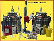 KIT BIRRA DI FERMENTAZIONE, 2 FERMENTATORI 30 LT. inox 18/10+TAPPATRICE COLONNA