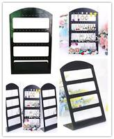 48 Hole Earring Jewelry Show Black Plastic Display Rack Stand Organizer Holder D