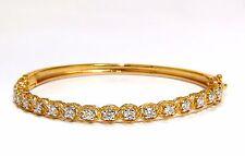 $4500 1.37CT  ROPE TWIST ENCASE NATURAL ROUND DIAMONDS BANGLE BRACELET 14KT