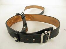 NOS Vintage Jay-Pee Black Leather Police Officer Belt Cross Body Strap Men's 32