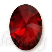 2x Beautiful Oval Shape Cut Red Ruby Mozambique Loose Gemstone Stone7x5mm