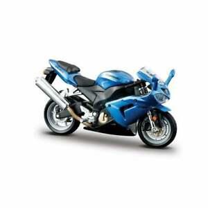 Burago Blue Kawasaki Ninja ZX 10R  Motorcycle 1:18   UK Seller