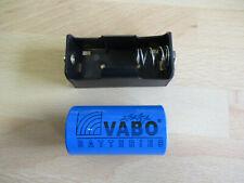 VABO Lithium Thionyl Battery ER26500 3.6V 8.5Ah, Li-SOCL2 GD + Holder