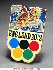 OLYMPIC PINS BADGE 2012 LONDON ENGLAND UK SWIMMING BUTTERFLY SWIMMER ABSTRACT-G